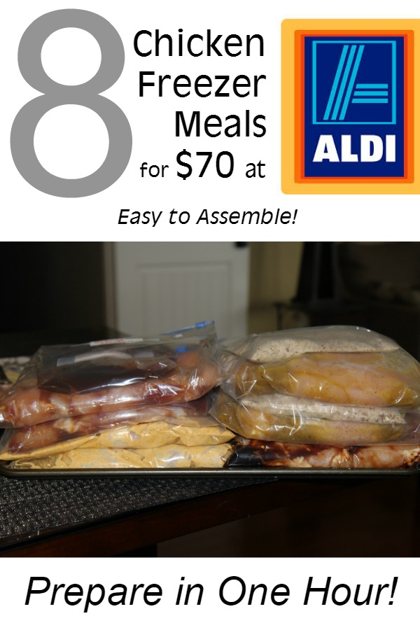 One Hour 8 Chicken Freezer Meals under $70 at Aldi