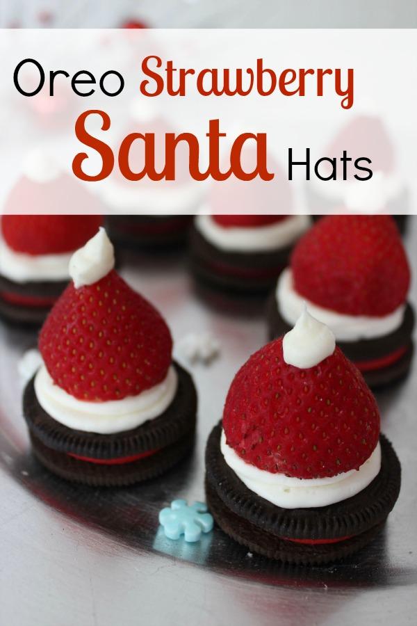 Oreo Strawberry Santa Hats