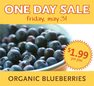 Whole Foods: Organic Blueberries $1.99/pint on 5/31