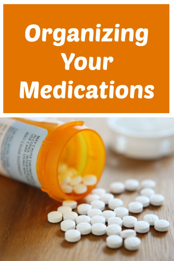 Organization of Your Medicines