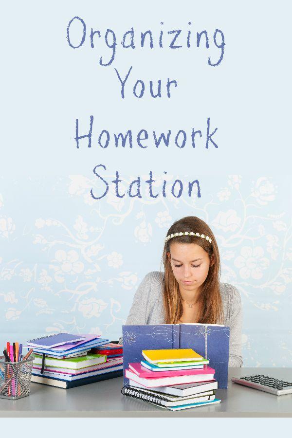Organize Your Homework Station