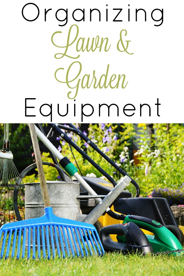 Organizing Lawn and Garden Equipment