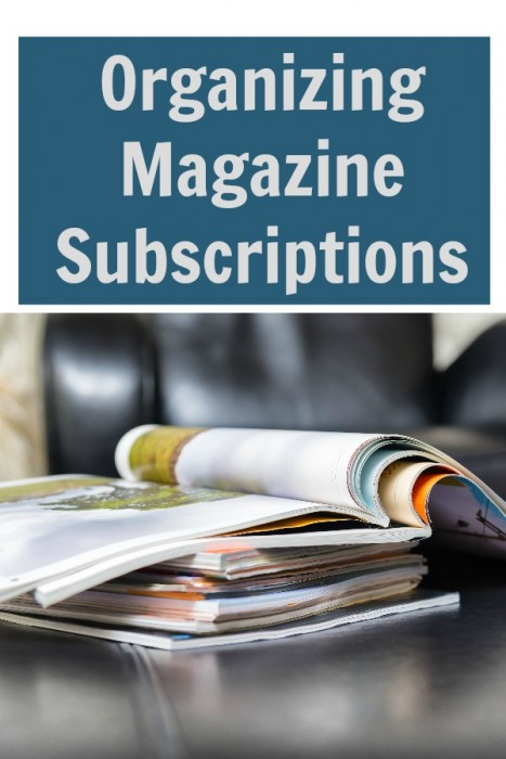 Organizing Magazine Subscriptions