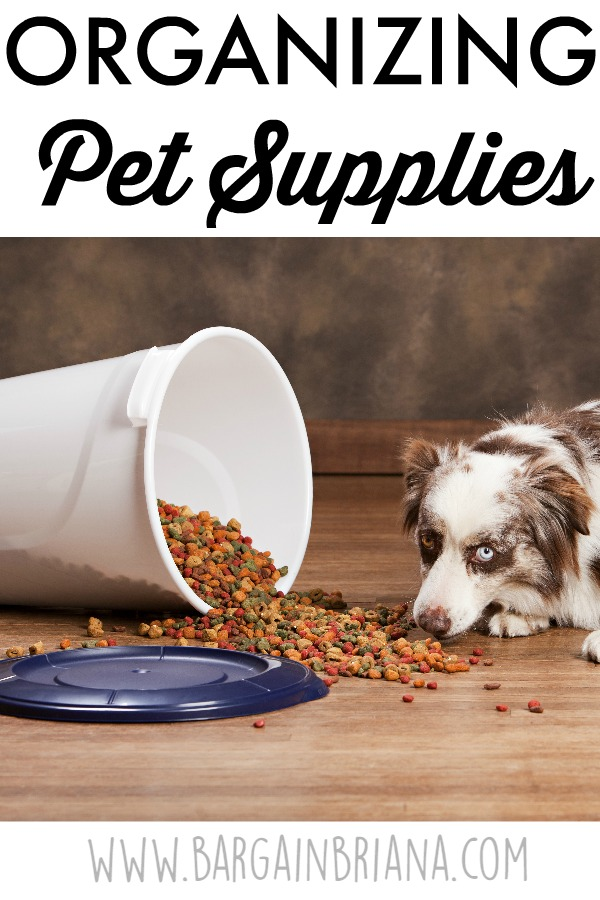 Organizing Pet Supplies