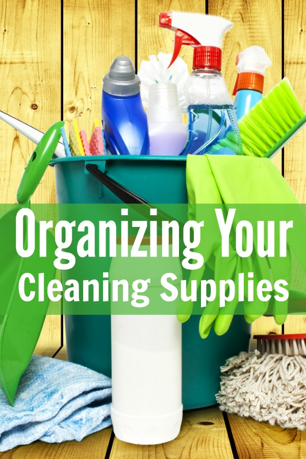 Organizing your cleaning supplies 52 weeks to a more for House cleaning and organizing