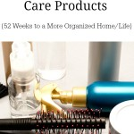 Organizing Your Hair Care Products