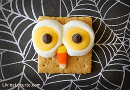 Owl Smores LivingLocurto Inexpensive Halloween Food and Treat Ideas