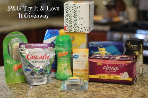 PG Try it and Love it Giveaway Package P&G Try It and Love It Holiday Tips + Giveaway