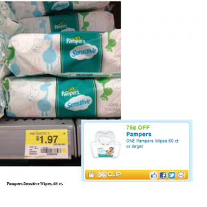 Pampers1 300x300 Walmart: Pampers Wipes as low as $1.22