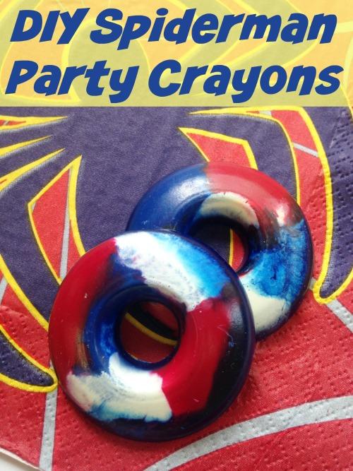 Party Crayons - DIY Spiderman