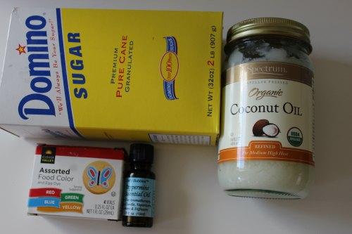 Peppermint Sugar Scrub Ingredients