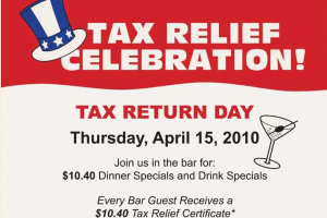 NOW CLOSED: McCormick & Schmicks Tax Relief Celebration + Giveaway