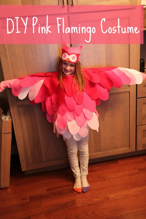 Pink Flamingo Bird Costume for Halloween - DIY