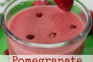 Pomegranate Strawberry Smoothie