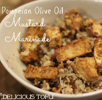 Pompeian Olive Oil Mustard Marinade for Delicious Tofu or Chicken
