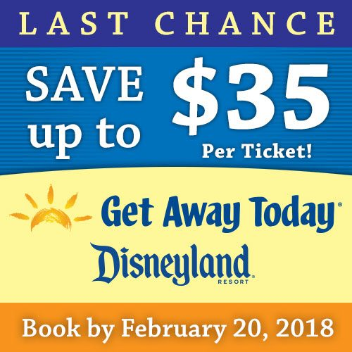 Disneyland: Save up to $35/Ticket thru 2/20