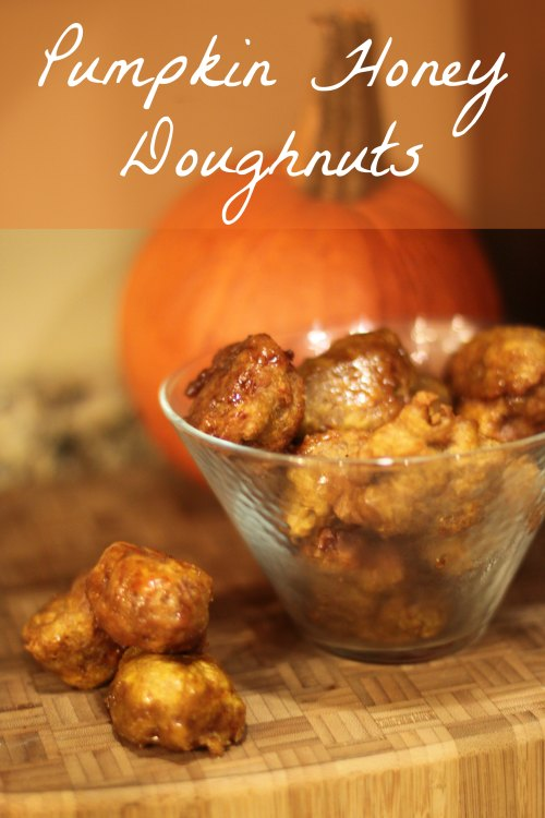 Pumpkin Honey Doughnuts Recipe for Fall