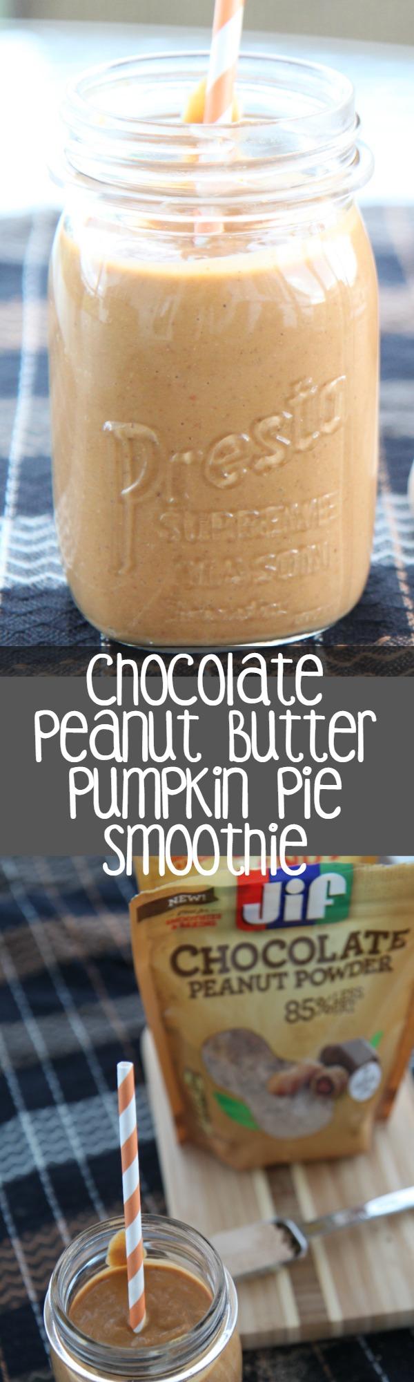 Pumpkin Pie Smoothie with Peanut Butter Chocolate