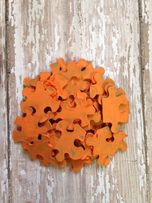 Pumpkin Puzzle Pieces