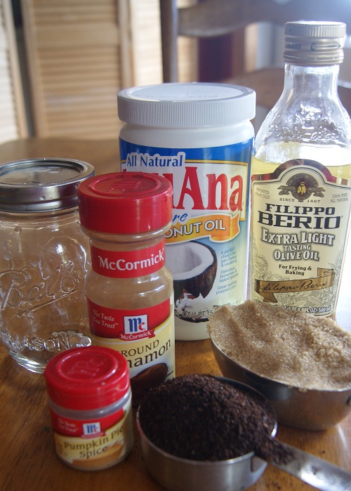 Pumpkin Spice Latte Sugar Scrub Ingredients