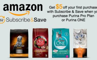 Amazon: Get $5 off your first purchase of Purina® Pro Plan® or Purina® ONE® withSubscribe and Save