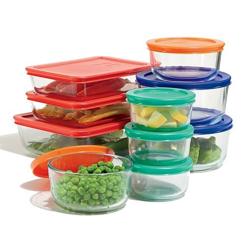 Pyrex Storage Set with Color Lids