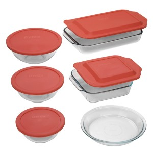 Pyrex1 300x300 Pyrex Easy Grab 11 Piece Bake & Store Set is just $19.99