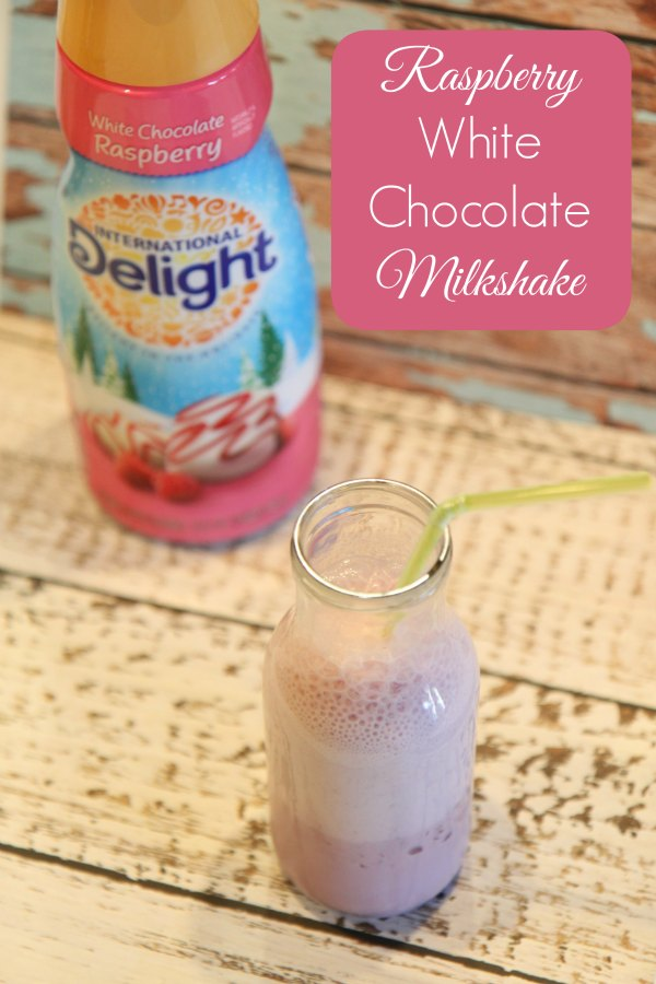 Raspberry White Chocolate Milkshake Made with International Delight Creamer