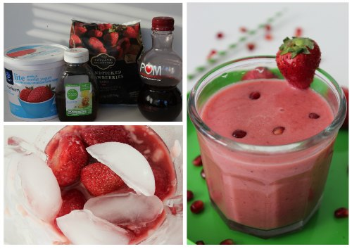 Recipe for Pomegranate Strawberry Smoothie