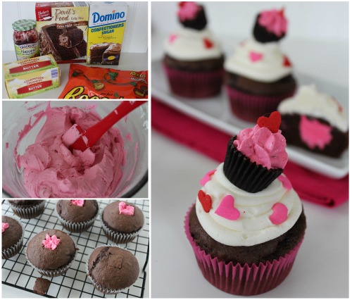 Recipe for Raspberry Buttercream Filled Cupcakes