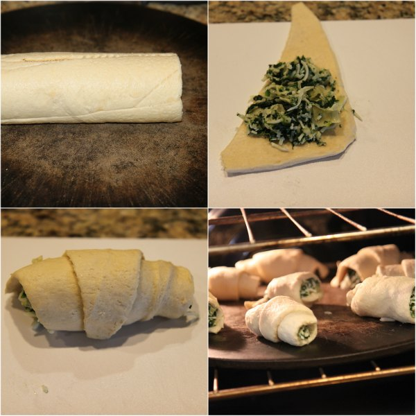 Recipe for spinach and artichoke crescent rolls