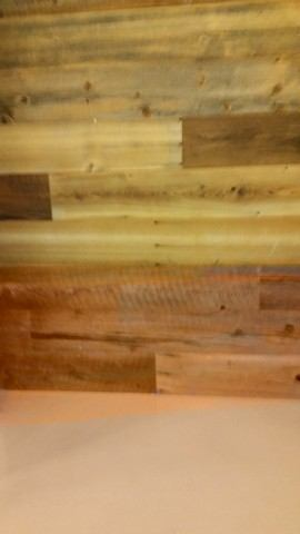 Reclaimed Wood at motorola headquarters part of green program