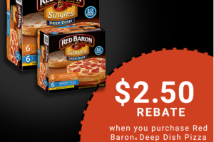 Earn $2.50 when you buy Red Baron® Deep Dish Pizzas at Sam's Club
