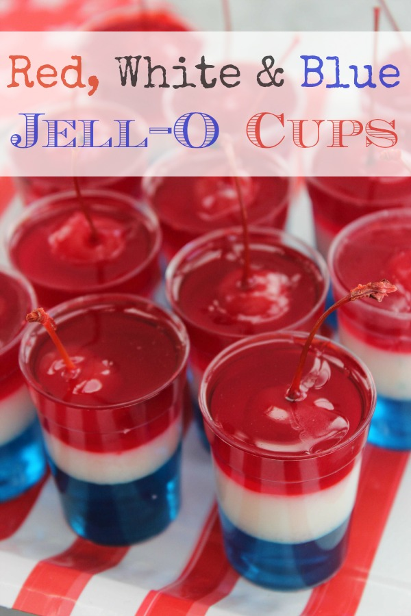 Red White & Blue Jell-O Cups