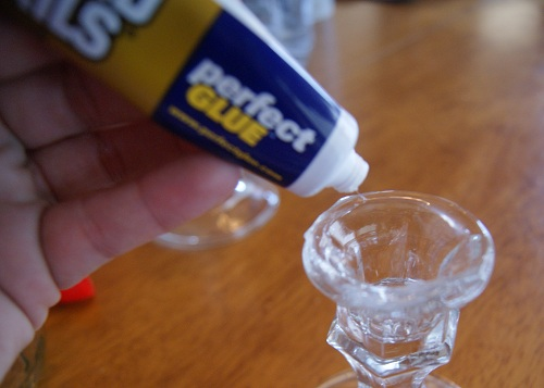 Redneck Wine Glasses Glue