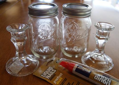 Redneck Wineglasses Materials Needed