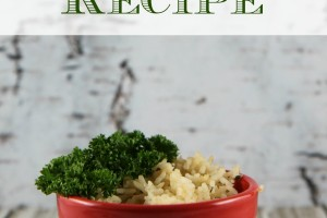 Easy rice pilaf recipe with just three ingredients