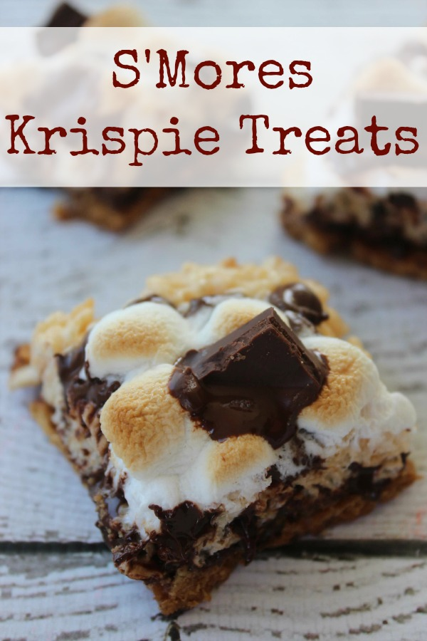 These S'Mores Krispie Treats combines your favorite Rice Krispie Treats cereal with the taste of your favorite classic S'mores recipes for a yummy summertime treat that you and your family are sure to love. Delicious dessert bars full of chocolate that will surely be a hit at your next party!