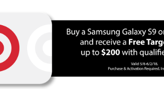 Buy a Samsung Galaxy S9 or S9+ from Target and get a Free Target GiftCard™ up to $200