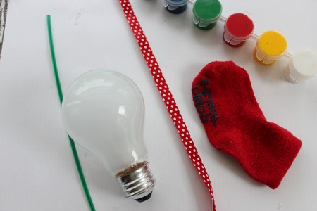 Santa Light Bulb Craft List