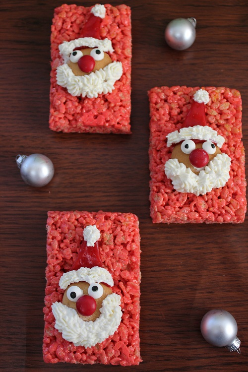 Santa Rice Krispies for the Holidays Santa Rice Krispies Treats