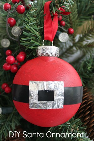 Santa Suit Flatter Christmas Ornament Directions