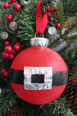 Santa Suit Flatter Christmas Ornament Kids Craft