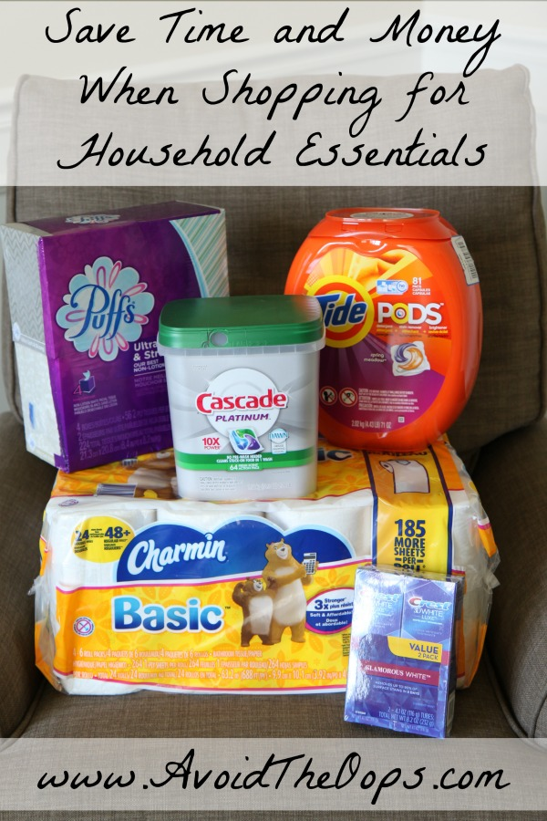Save Time and Money When Shopping for Household Essentials