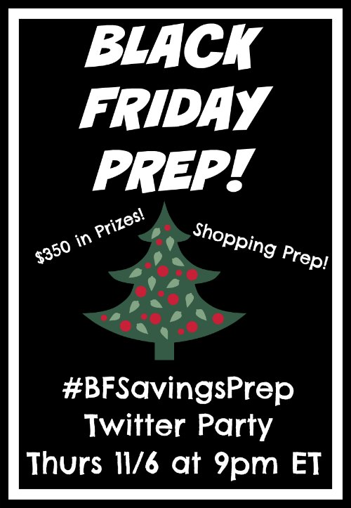Savings Black Friday Twitter Party