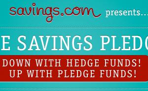 Take the Savings.com Savings Pledge