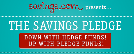 Take the Savings.com Savings Pledge