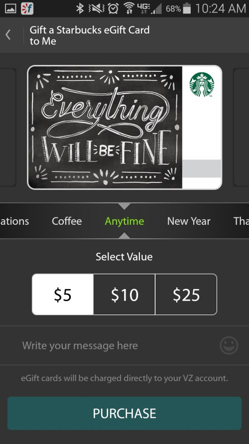 Send a Starbucks eGift Card on Your Phone