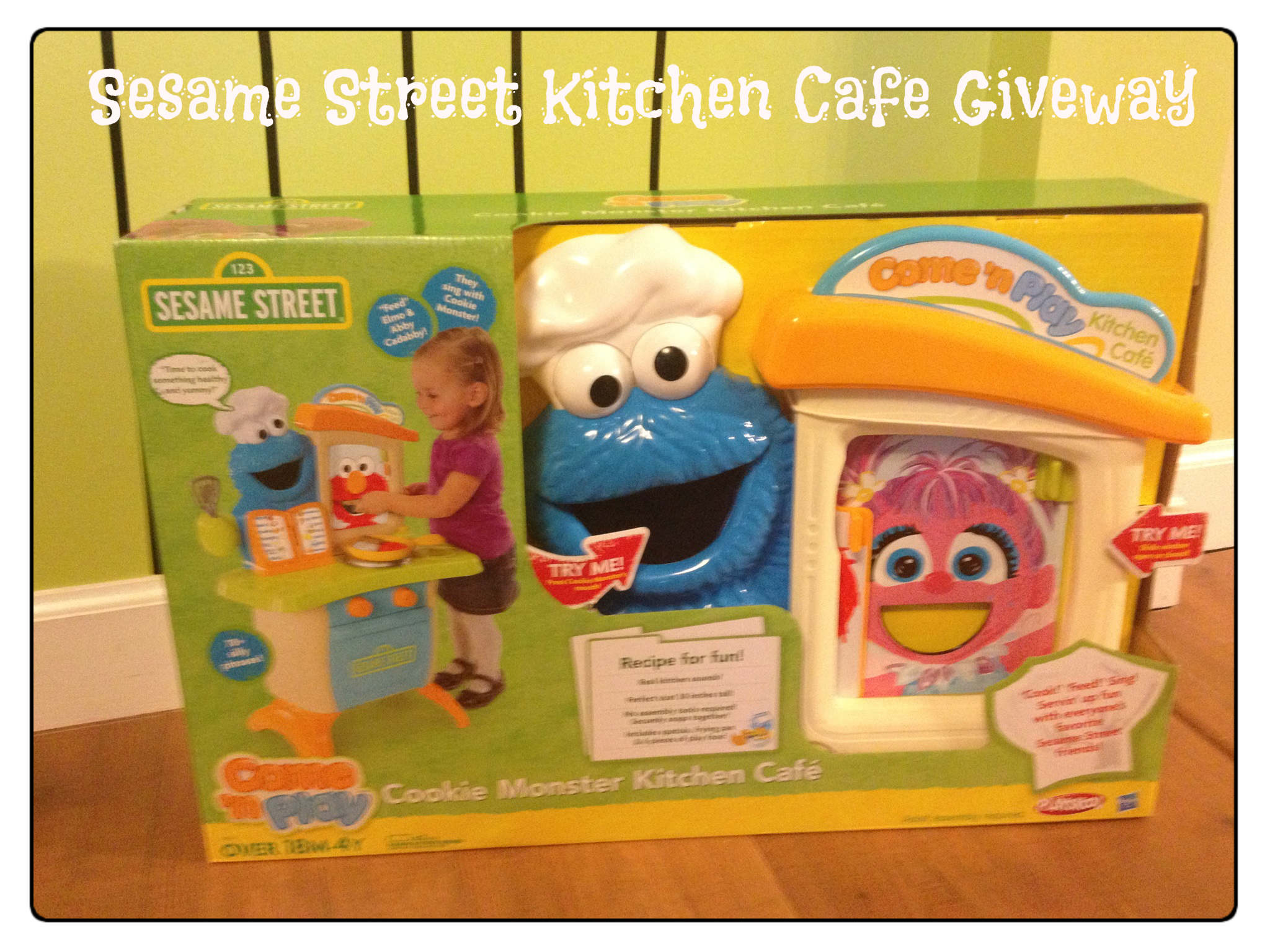 Sesame Street Cookie Monster Kitchen Cafe Giveaway
