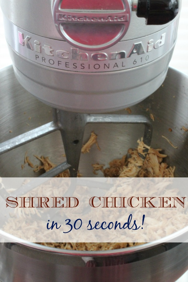 Shred Chicken in 30 Seconds